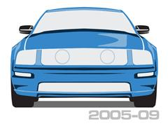 2005-2009 Mustang Body Side Moldings & Kits