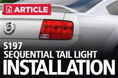 S197 Mustang Sequential Tail Light Install