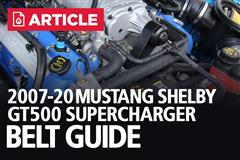 Mustang Shelby GT500 Supercharger Belt Guide | 2007-20