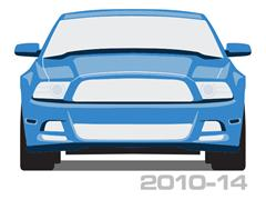 2010-2014 Mustang Quarter Panel Scoops