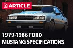 1979-1986 Fox Body Ford Mustang Specifications