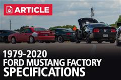 Ford Mustang Specifications