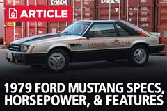 1979 Ford Mustang Specs, Horsepower, & Features