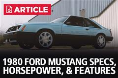 1980 Ford Mustang Specs, Horsepower, & Features