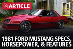 1981 Ford Mustang Specs, Horsepower, & Features