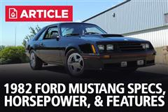 1982 Ford Mustang Specs, Horsepower, & Features