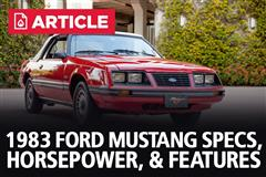1983 Ford Mustang Specs, Horsepower, & Features