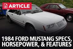 1984 Ford Mustang Specs, Horsepower, & Features
