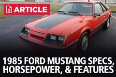 1985 Ford Mustang Specs, Horsepower, & Features