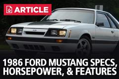 1986 Ford Mustang Specs, Horsepower, & Features