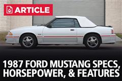 1987 Ford Mustang Specs, Horsepower, & Features