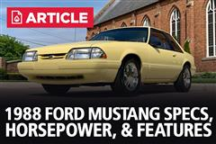 1988 Ford Mustang Specs, Horsepower, & Features