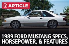 1989 Ford Mustang Specs, Horsepower, & Features