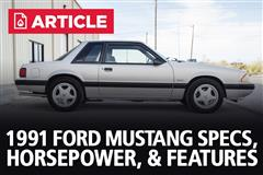1991 Ford Mustang Specs, Horsepower, & Features