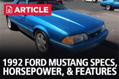 1992 Ford Mustang Specs, Horsepower, & Features