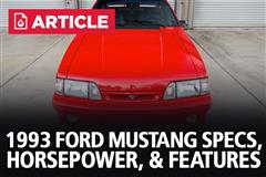 1993 Ford Mustang Specs, Horsepower, & Features