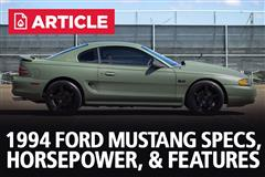 1994 Ford Mustang Specs, Horsepower, & Features