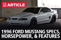 1996 Ford Mustang Specs, Horsepower, & Features