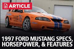 1997 Ford Mustang Specs, Horsepower, & Features