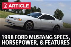 1998 Ford Mustang Specs, Horsepower, & Features