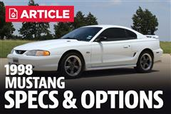1998 Ford Mustang Specs
