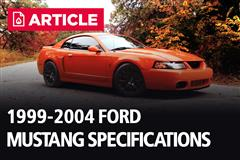 1999-2004 Ford Mustang Specifications