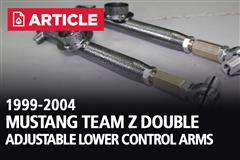 1999-2004 Mustang Team Z Double Adjustable Lower Control Arms