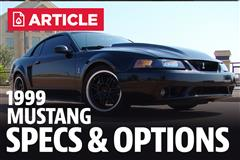 1999 Ford Mustang Specs