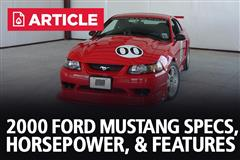 2000 Ford Mustang Specs, Horsepower, & Features