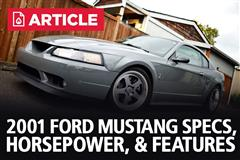 2001 Ford Mustang Specs, Horsepower, & Features