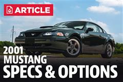 2001 Ford Mustang Specs