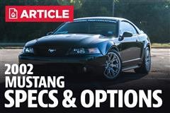 2002 Ford Mustang Specs