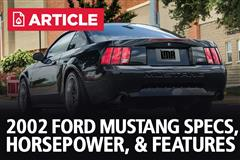 2002 Ford Mustang Specs, Horsepower, & Features