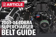 2003-2004 Ford SVT Mustang Cobra Supercharger Belt Guide