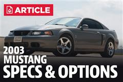 2003 Ford Mustang Specs