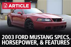 2003 Ford Mustang Specs, Horsepower, & Features