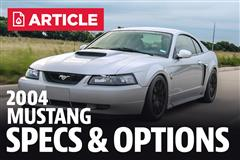 2004 Ford Mustang Specs