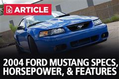 2004 Ford Mustang Specs, Horsepower, & Features