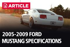 2005-2009 Ford Mustang Specifications