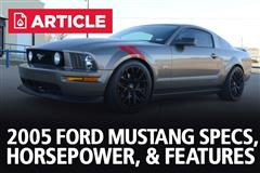 2005 Ford Mustang Specs, Horsepower, & Features