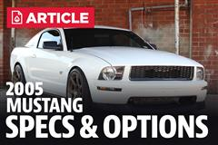 2005 Ford Mustang Specs