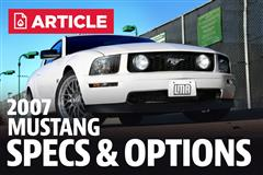 2007 Ford Mustang Specs