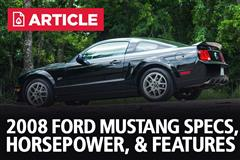 2008 Ford Mustang Specs, Horsepower, & Features