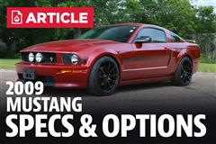 2009 Ford Mustang Specs