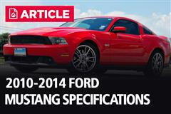 2010-2014 Ford Mustang Specifications