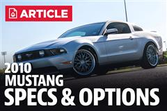 2010 Ford Mustang Specs
