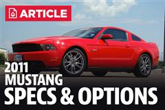 2011 Ford Mustang Specs