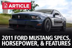 2011 Ford Mustang Specs, Horsepower, & Features