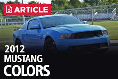 2012 Mustang Colors - Options, Photos, & Color Codes