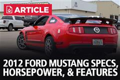 2012 Ford Mustang Specs, Horsepower, & Features